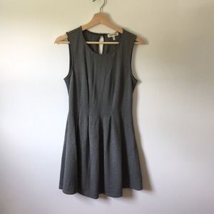 Monteau Grey Fit and Flare Dress